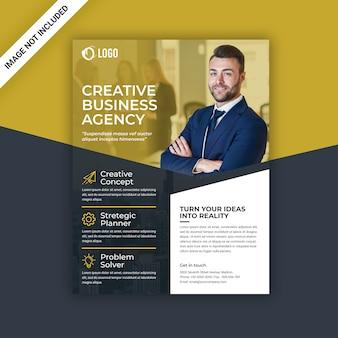 Flyer business jaune et noir