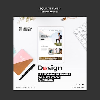 Flyer carré de l'agence de design