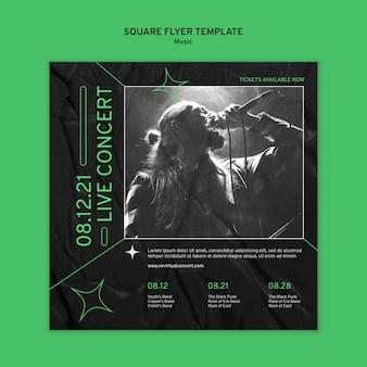 Flyer carré de concert virtuel