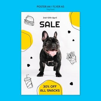 Flyer carré de nourriture pour chien coloré