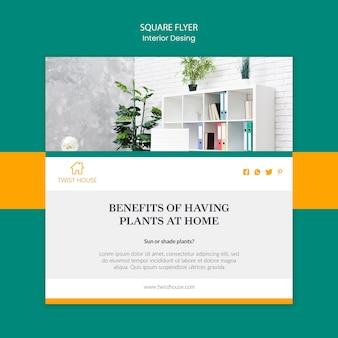 Flyer carré pour la décoration intérieure
