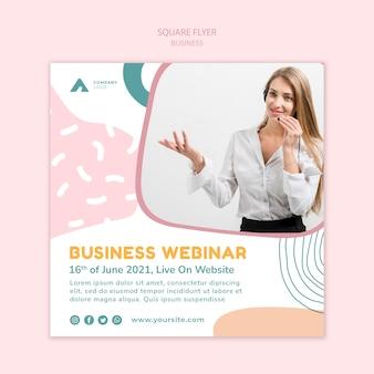 Flyer carré de webinaire d'affaires