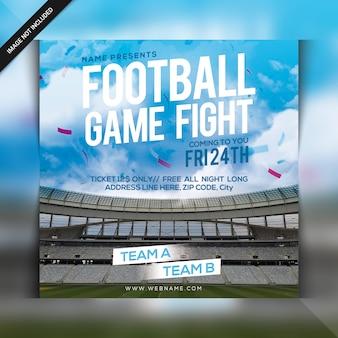 Flyer de combat de tournoi de football