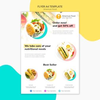 Flyer design cuisine américaine
