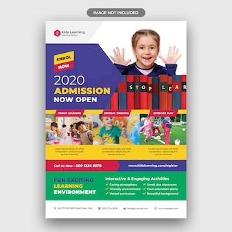 Flyer d'éducation des enfants