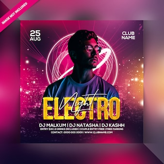 Flyer electro night party