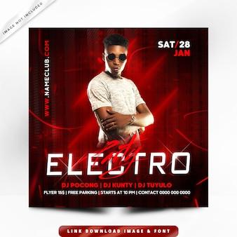 Flyer electro party premium