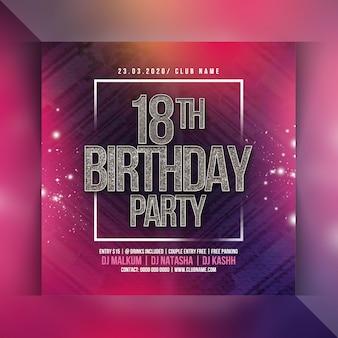 Flyer fête d'anniversaire 18