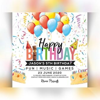 Flyer fête d'anniversaire