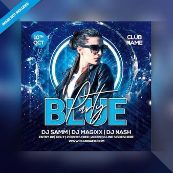 Flyer fête bleu
