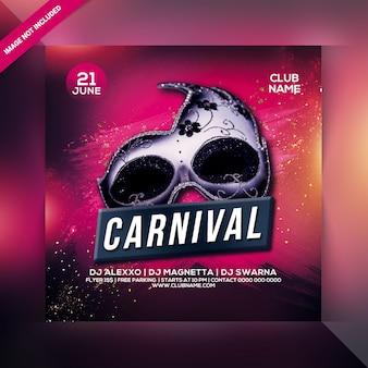 Flyer de fête de carnaval