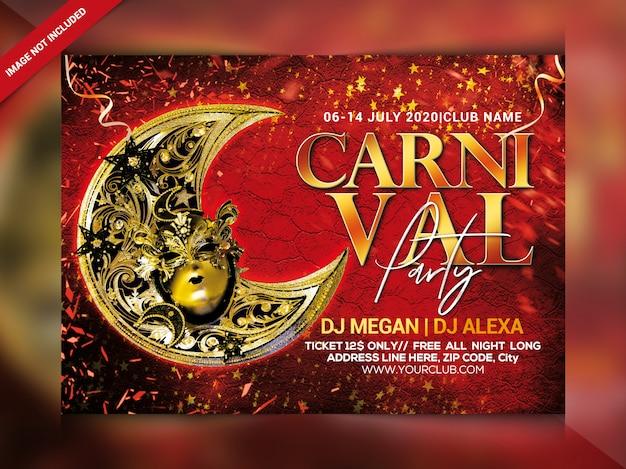 Flyer fête carnaval