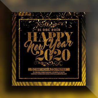 Flyer fête du nouvel an 2020