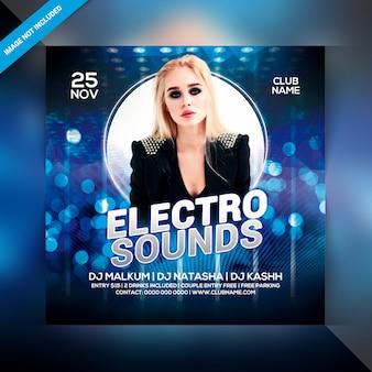 Flyer de fête électro