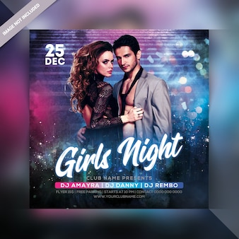 Flyer fête de nuit des filles