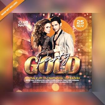 Flyer fête d'or