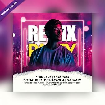 Flyer fête remix