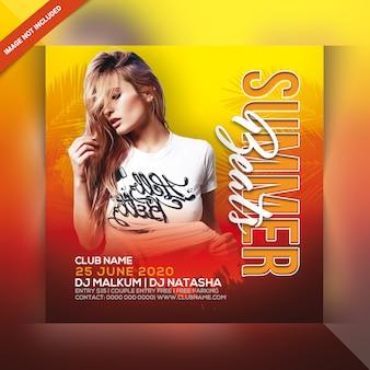 Flyer de fête summer beats