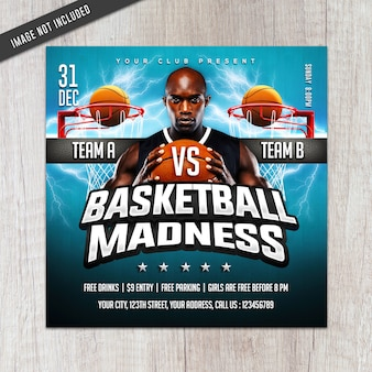 Flyer de folie de basket-ball