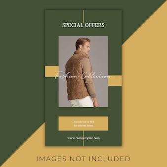 Flyer instagram de mode histoires minimalistes et élégantes