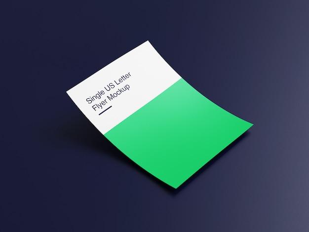 Flyer de lettre américaine ou maquette d'affiche psd