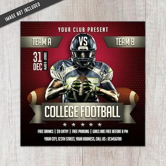 Flyer de la ligue de football universitaire