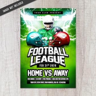 Flyer de la ligue de football