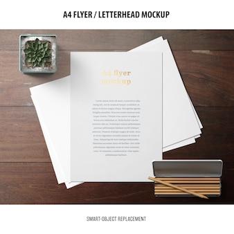 Flyer ou maquette de papier à en-tête