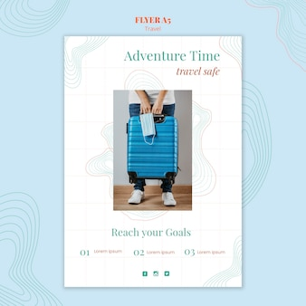 Flyer de modèle d'agence de voyage