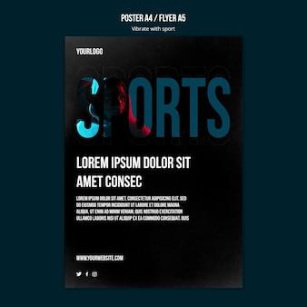Flyer de modèle d'annonce de sport