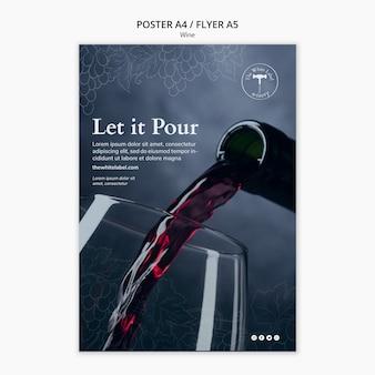 Flyer de modèle de boutique de vin