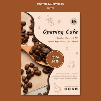 Flyer de modèle de café