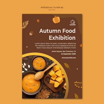 Flyer modèle de fête d'automne