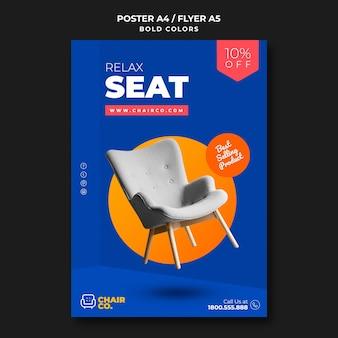 Flyer de modèle de magasin de meubles