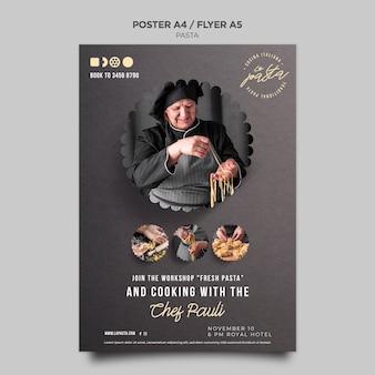 Flyer de modèle de magasin de pâtes