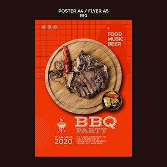 Flyer de modèle de soirée barbecue