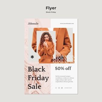Flyer de modèle de vendredi noir