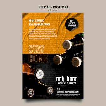 Flyer ook modèle de bière