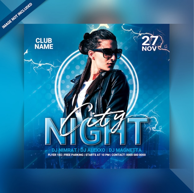 Flyer party night city