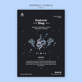 Flyer pour blog ésotérique