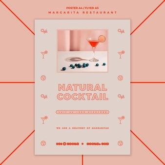 Flyer pour boisson cocktail margarita