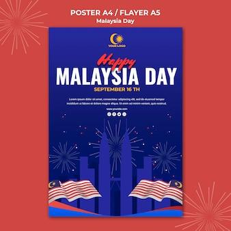 Flyer pour la célébration de la journée en malaisie