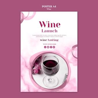 Flyer pour la dégustation de vins