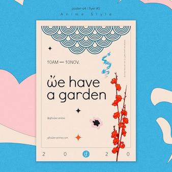 Flyer pour jardin fleuri