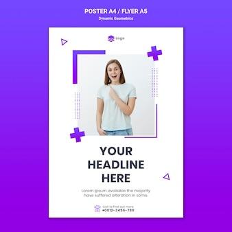 Flyer pour thème gratuit avec géométrie dynamique