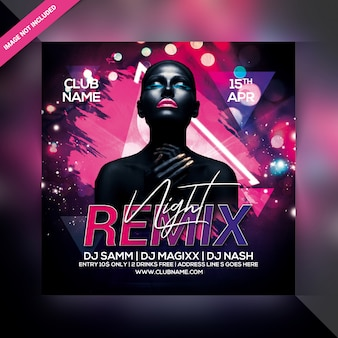 Flyer remix night party