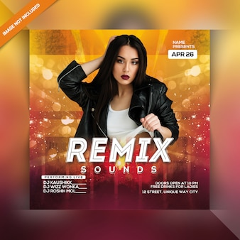 Flyer remix sound party