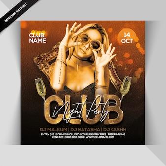 Flyer soirée club