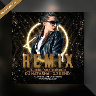 Flyer de soirée dj remix