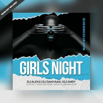 Flyer de soirée de filles